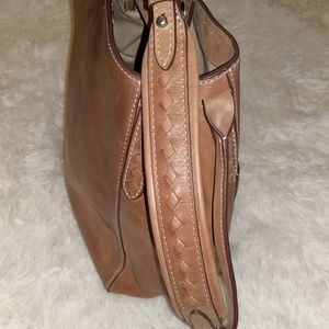 Frye Bags - Frye Brown Leather Reed Hobo Magnetic Snap Bag